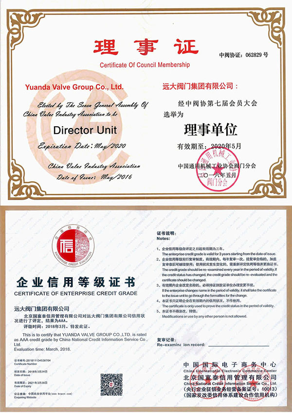 Zhongmeng Association Unit/AAA Enterprise Credit Rating